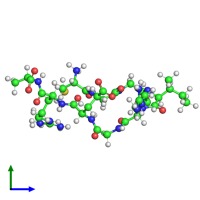 PDB 1cs9 coloured by chain and viewed from the side.
