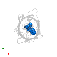 PDB entry 1cv7 contains the modified residue CRF in assembly 1. This modified residue is highlighted and viewed from the top.