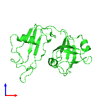 PDB 1cz5 coloured by chain and viewed from the front.