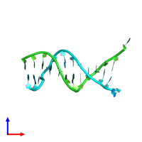 PDB 1d31 coloured by chain and viewed from the front.