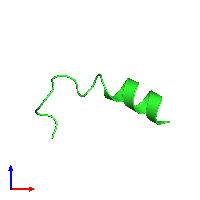 PDB 1d9o coloured by chain and viewed from the front.