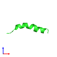 PDB 1d9p coloured by chain and viewed from the front.