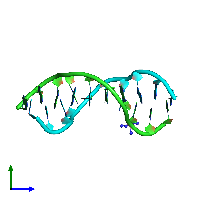 PDB 1d9r coloured by chain and viewed from the side.