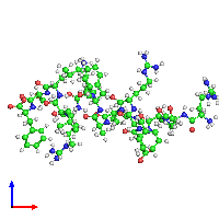 PDB 1dep coloured by chain and viewed from the front.