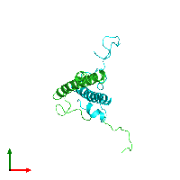PDB 1dip coloured by chain and viewed from the top.