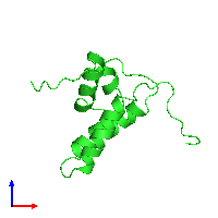 PDB 1dk3 coloured by chain and viewed from the front.