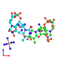 PDB 1dn8 coloured by chain and viewed from the front.