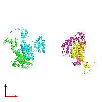PDB 1do2 coloured by chain and viewed from the front.