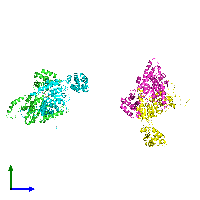 PDB 1do2 coloured by chain and viewed from the side.