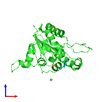 PDB 1e20 coloured by chain and viewed from the front.