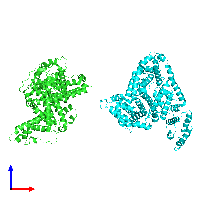 PDB 1e78 coloured by chain and viewed from the front.