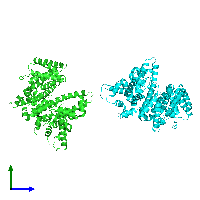 PDB 1e78 coloured by chain and viewed from the side.
