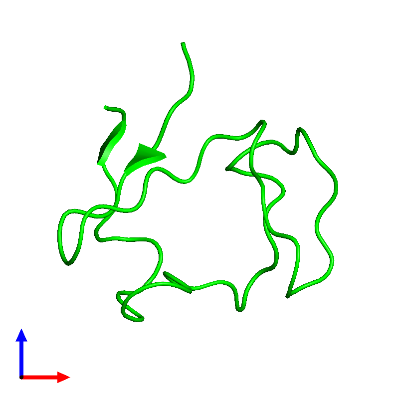 <div class='caption-body'><ul class ='image_legend_ul'> Monomeric assembly 1 of PDB entry 1e8j coloured by chemically distinct molecules and viewed from the front. This assembly contains:<li class ='image_legend_li'>One copy of Rubredoxin</li></ul></div>