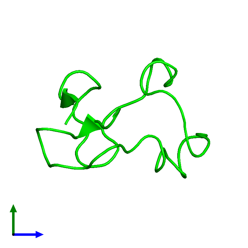 <div class='caption-body'><ul class ='image_legend_ul'> Monomeric assembly 1 of PDB entry 1e8j coloured by chemically distinct molecules and viewed from the side. This assembly contains:<li class ='image_legend_li'>One copy of Rubredoxin</li></ul></div>