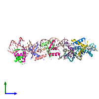 PDB 1ea4 coloured by chain and viewed from the side.
