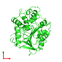 PDB 1edb coloured by chain and viewed from the top.