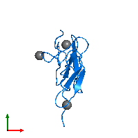 PDB 1edm contains 2 copies of Coagulation factor IXa light chain in assembly 1. This protein is highlighted and viewed from the top.