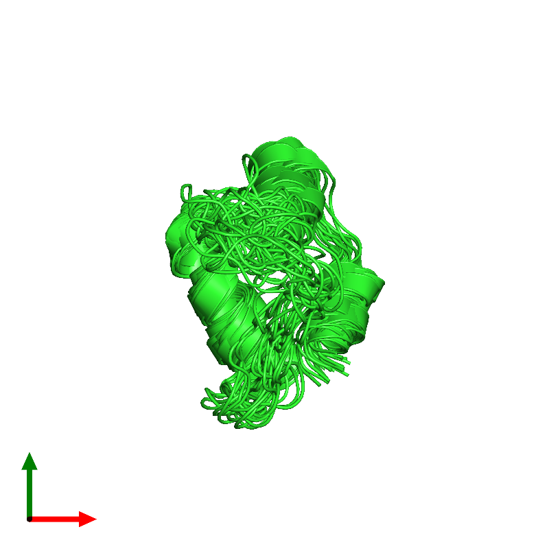 <div class='caption-body'><ul class ='image_legend_ul'>The deposited structure of PDB entry 1efe coloured by chain and viewed from the top. The entry contains: <li class ='image_legend_li'>1 copy of Insulin B chain</li><li class ='image_legend_li'>There are no non-polymeric molecules</li></ul></li></ul></li></div>