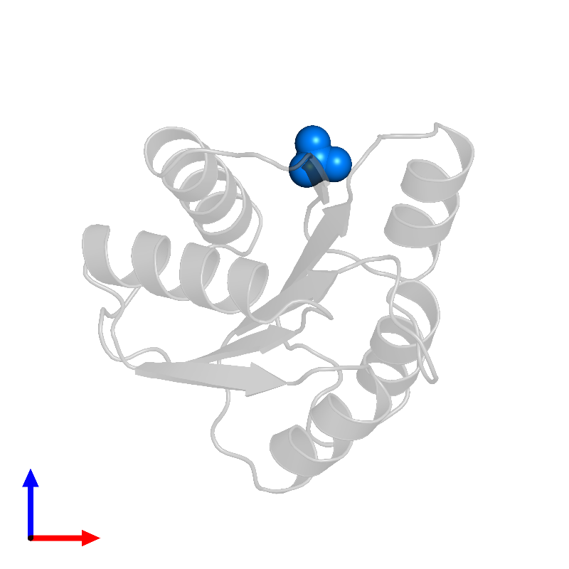 <div class='caption-body'>PDB entry 1ehc contains 1 copy of SULFATE ION in assembly 1. This small molecule is highlighted and viewed from the front.</div>