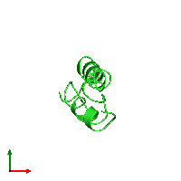 PDB 1ehs coloured by chain and viewed from the top.