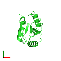 PDB 1eiw coloured by chain and viewed from the top.