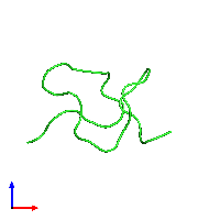 PDB 1emx coloured by chain and viewed from the front.