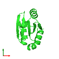 PDB 1ert coloured by chain and viewed from the top.