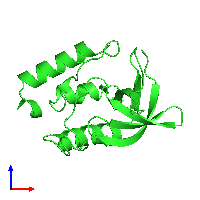 PDB 1ey7 coloured by chain and viewed from the front.
