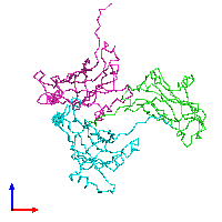 PDB 1f15 coloured by chain and viewed from the front.