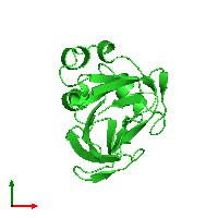 PDB 1f3g coloured by chain and viewed from the top.