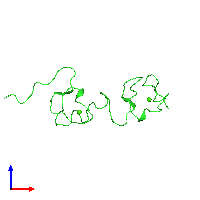 PDB 1f5y coloured by chain and viewed from the front.