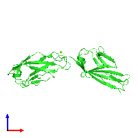 PDB 1f97 coloured by chain and viewed from the front.