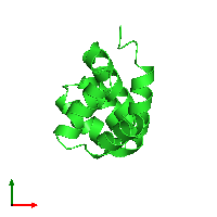 PDB 1fad coloured by chain and viewed from the top.