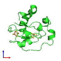 PDB 1ff2 coloured by chain and viewed from the front.