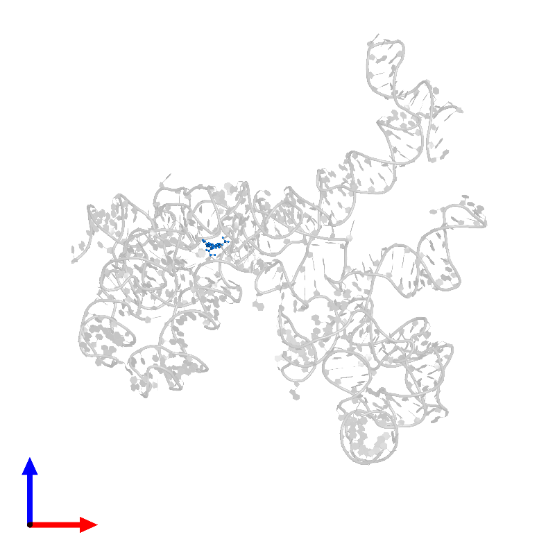 <div class='caption-body'>PDB entry 1ffz contains the modified residue PU in assembly 1. This modified residue is highlighted and viewed from the front.</div>