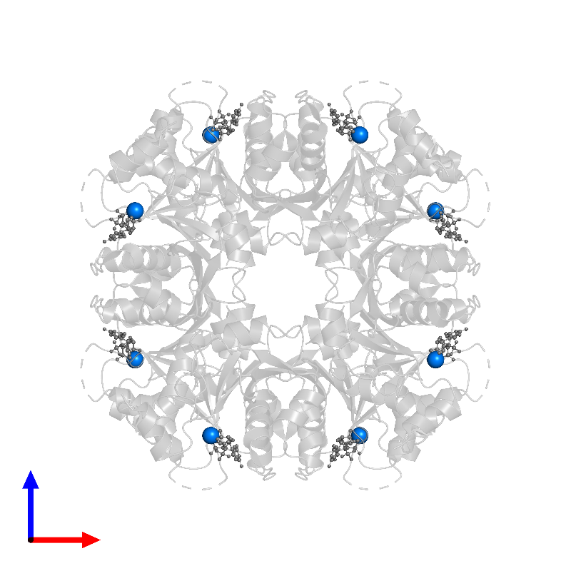<div class='caption-body'>PDB entry 1frw contains 8 copies of MANGANESE (II) ION in assembly 1. This small molecule is highlighted and viewed from the front.</div>