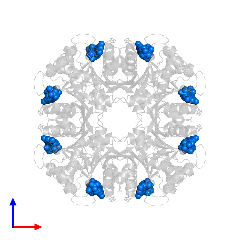 <div class='caption-body'>PDB entry 1frw contains 8 copies of GUANOSINE-5'-TRIPHOSPHATE in assembly 1. This small molecule is highlighted and viewed from the front.</div>