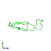 PDB 1fwo coloured by chain and viewed from the side.