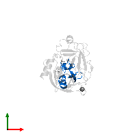 PDB 1fy8 contains 1 copy of Pancreatic trypsin inhibitor in assembly 1. This protein is highlighted and viewed from the top.