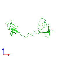 PDB 1fyb coloured by chain and viewed from the front.