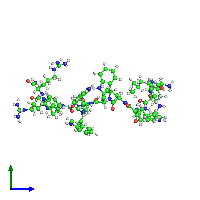 PDB 1g89 coloured by chain and viewed from the side.
