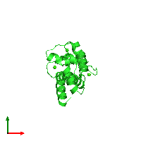 PDB 1ggz coloured by chain and viewed from the top.