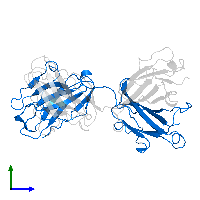 PDB 1ghf contains 1 copy of ANTI-ANTI-IDIOTYPE GH1002 FAB FRAGMENT in assembly 1. This protein is highlighted and viewed from the side.