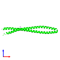 Dimeric assembly 1 of PDB entry 1gk4 coloured by chemically distinct molecules and viewed from the front.