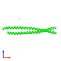 Dimeric assembly 3 of PDB entry 1gk4 coloured by chemically distinct molecules and viewed from the front.