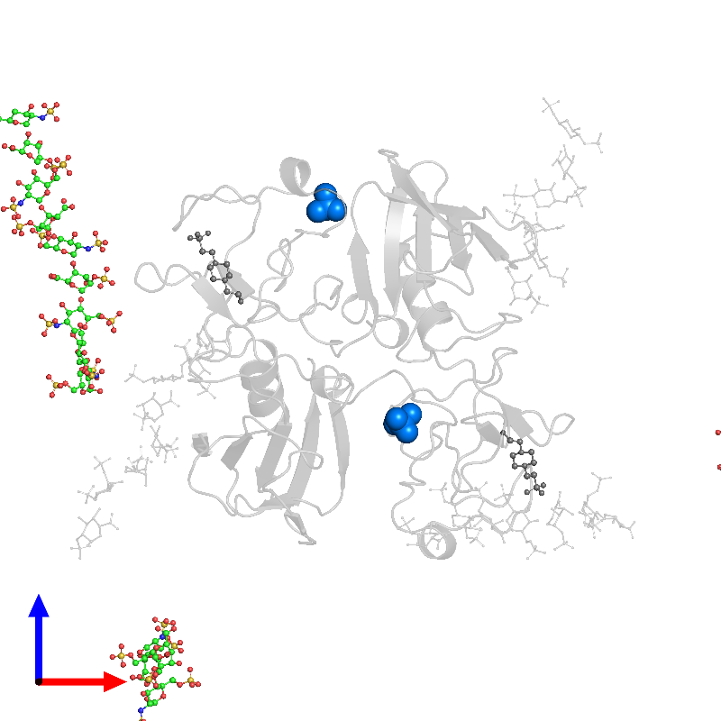 <div class='caption-body'>PDB entry 1gmo contains 2 copies of SULFATE ION in assembly 1. This small molecule is highlighted and viewed from the front.</div>