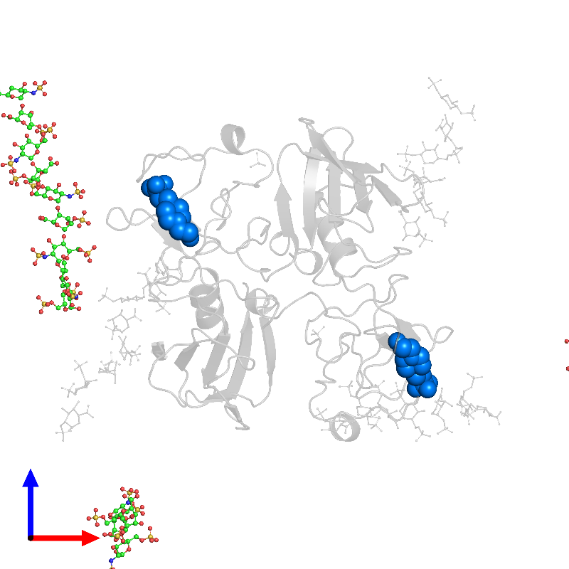 <div class='caption-body'>PDB entry 1gmo contains 2 copies of 4-(2-HYDROXYETHYL)-1-PIPERAZINE ETHANESULFONIC ACID in assembly 1. This small molecule is highlighted and viewed from the front.</div>