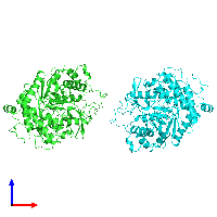 PDB 1gow coloured by chain and viewed from the front.