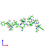 PDB 1gq0 coloured by chain and viewed from the front.