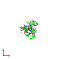 PDB 1gq0 coloured by chain and viewed from the top.